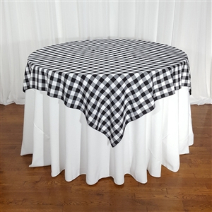 Gingham Checkered Table Overlays